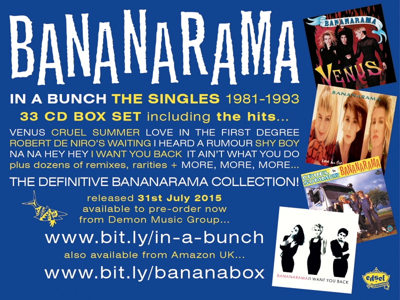 Bananarama Singles Box