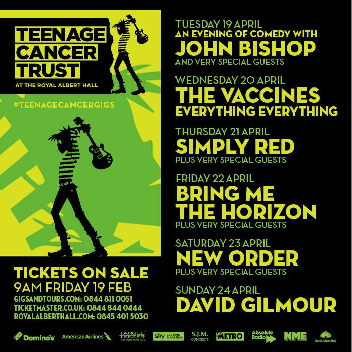 Teenage Cancer Trust Line-up 2016 Announced