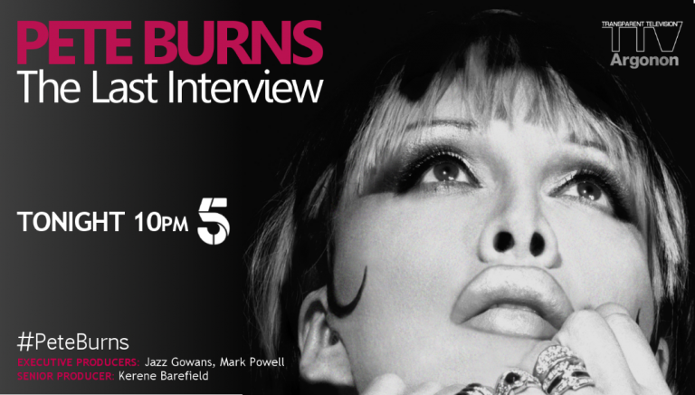 Pete Burns: The Last Interview – tonight on Channel 5 10pm