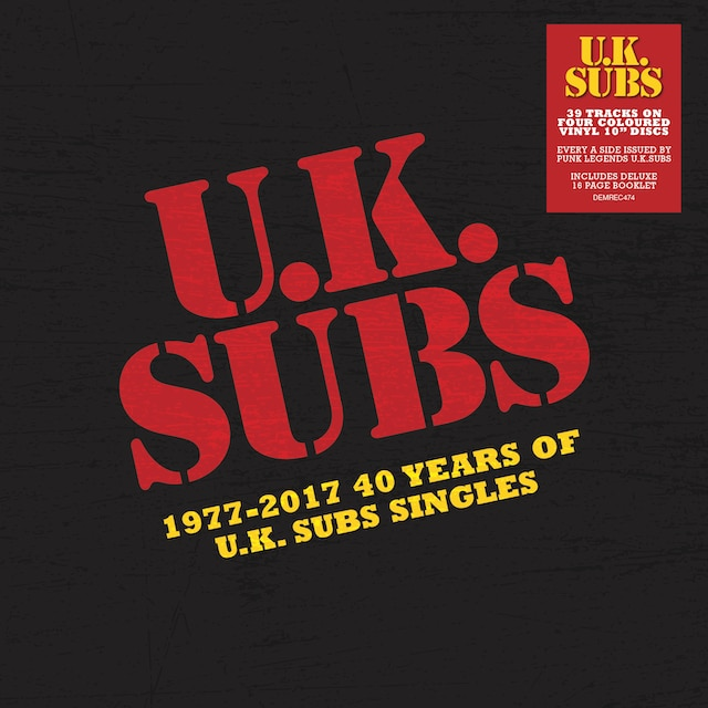 1977-2017: 40 Years Of UK Subs Singles (10″ Coloured Vinyl)