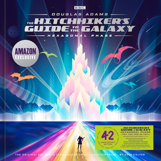 The Hitchhiker's Guide to the Galaxy – Hexagonal Phase (Neon Green Vinyl) – Amazon Exclusive Signed Edition