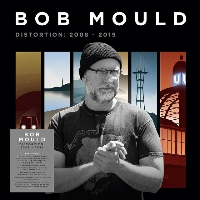 Bob Mould – Distortion: 2008-2019 (7LP 140g Clear Splatter Vinyl Signed)